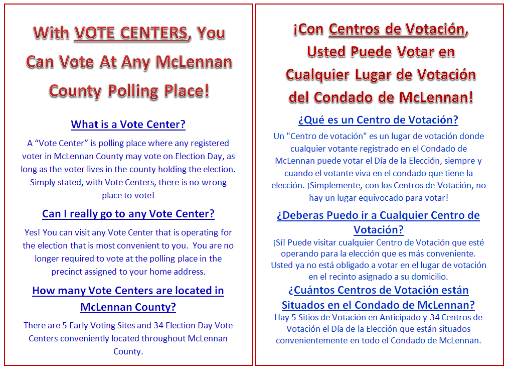 Vote Center Flyer