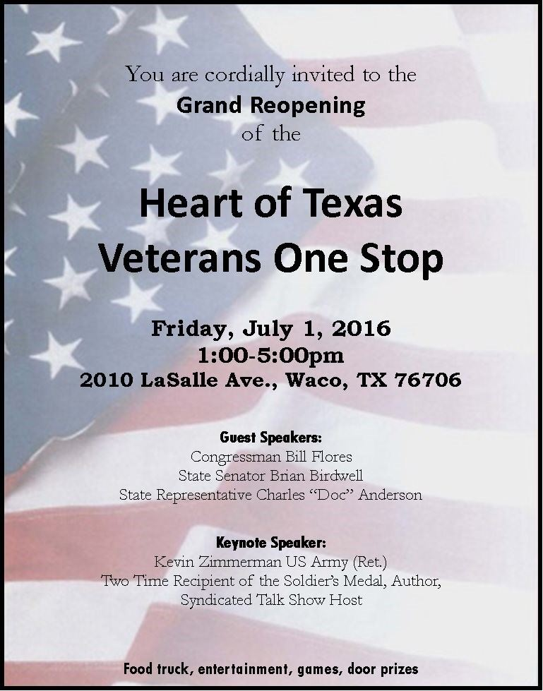 veterans one stop grand reopening 070116 1pm-5pm