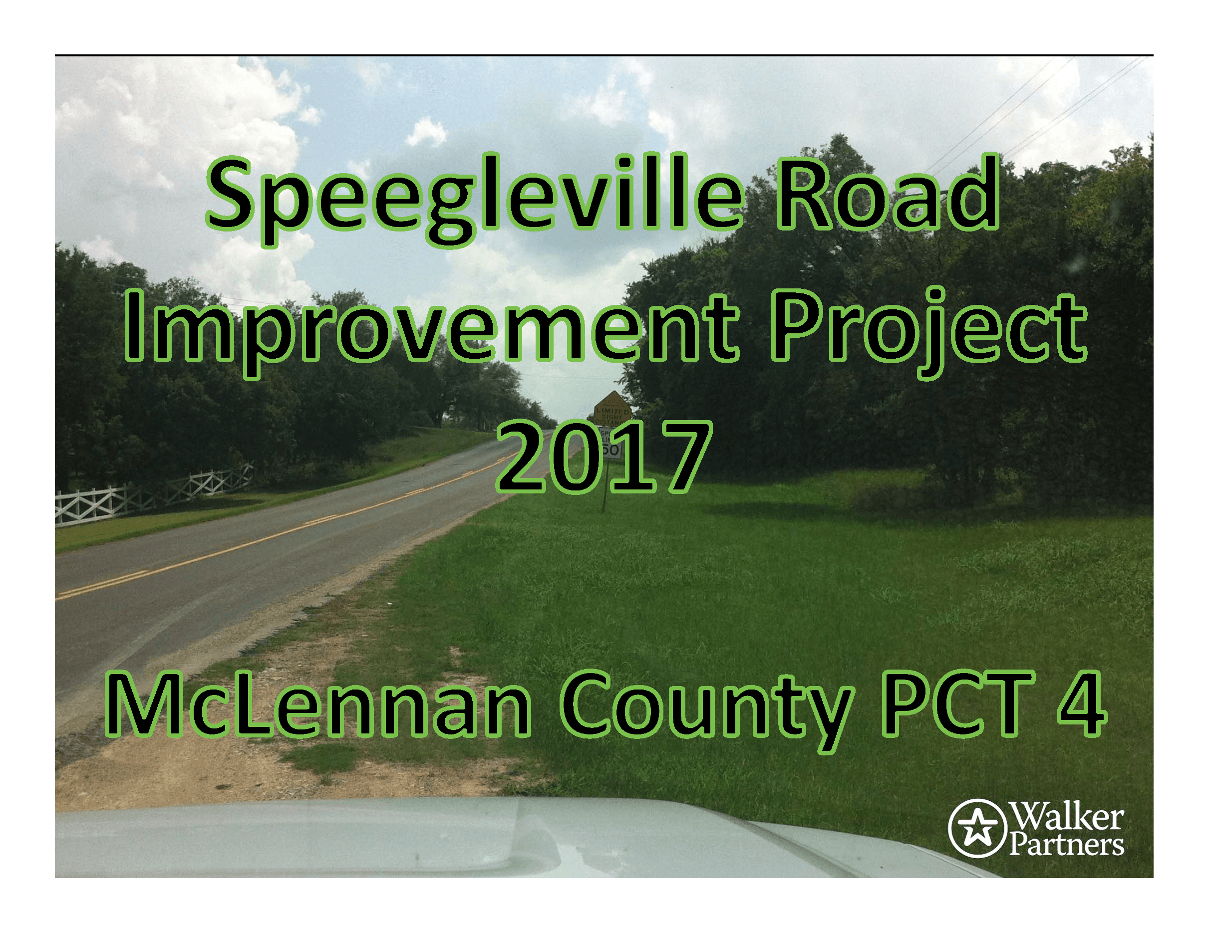 Speegleville Road Improvement Project Image