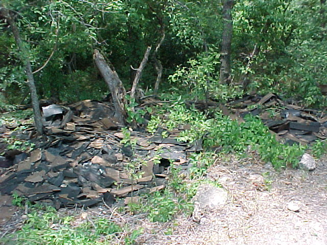 Pile of dumped shingles