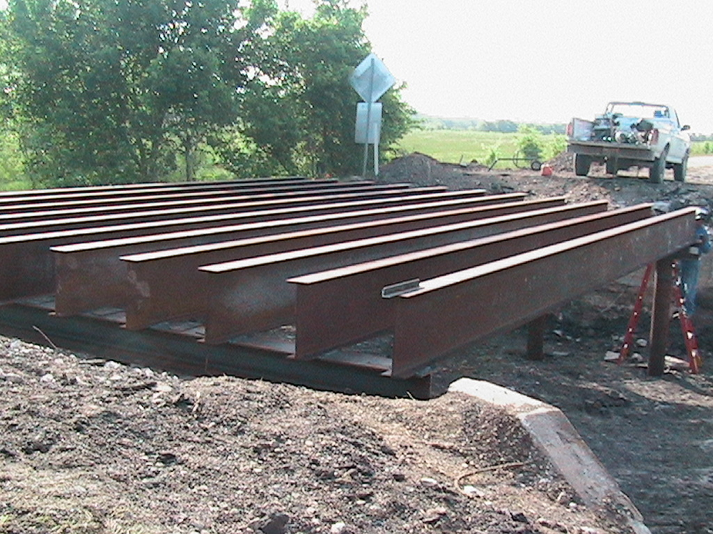 Laying the beams for the bridge