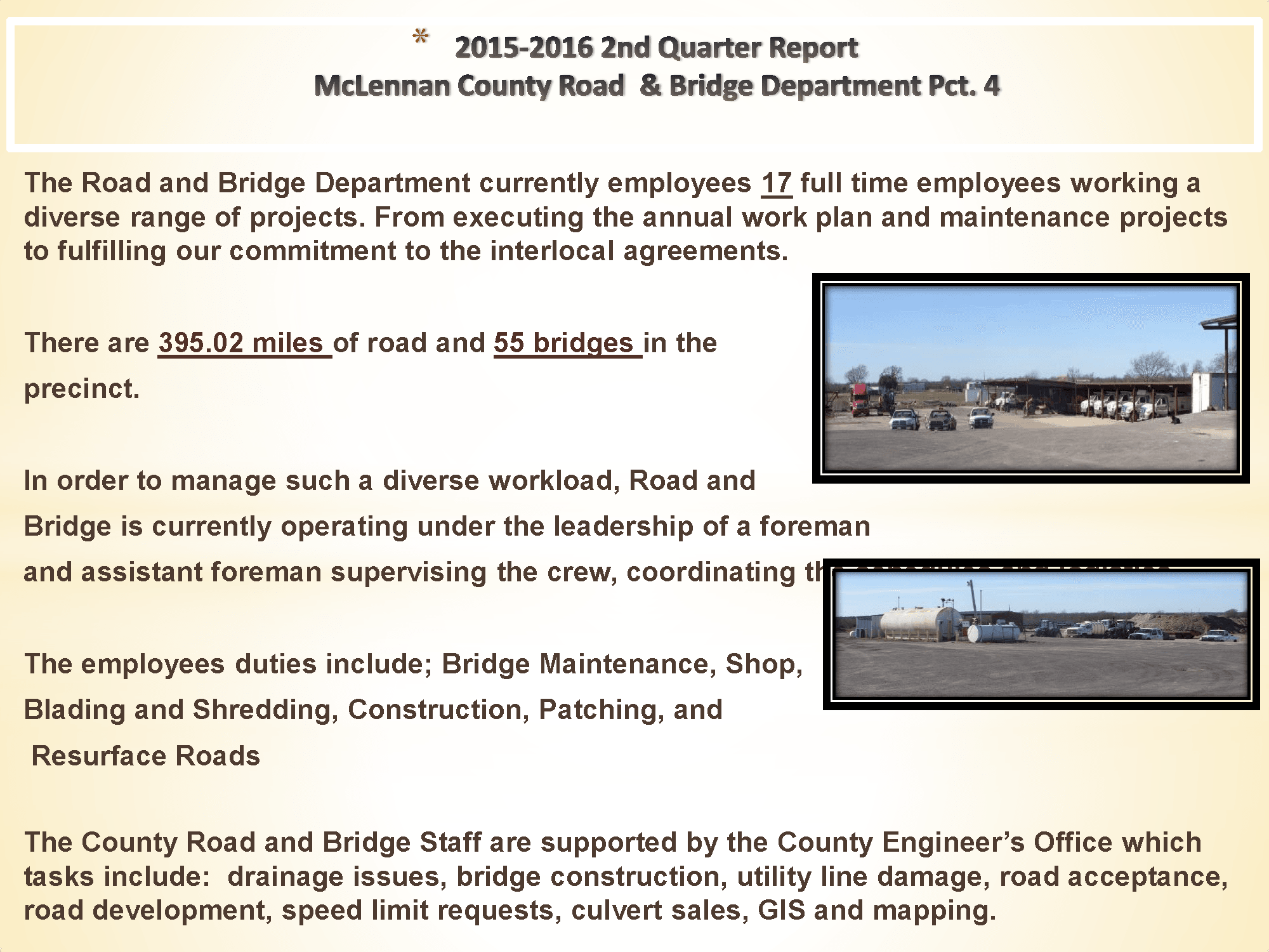 McLennan County Road & Bridge Department Precinct 4