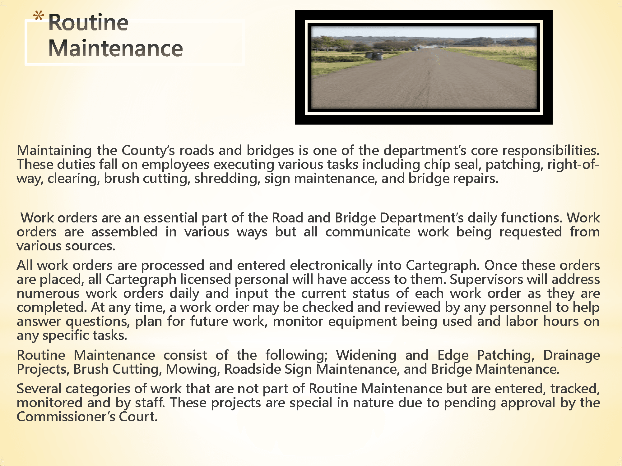 McLennan County Road & Bridge Precinct 4 Road Maintenance