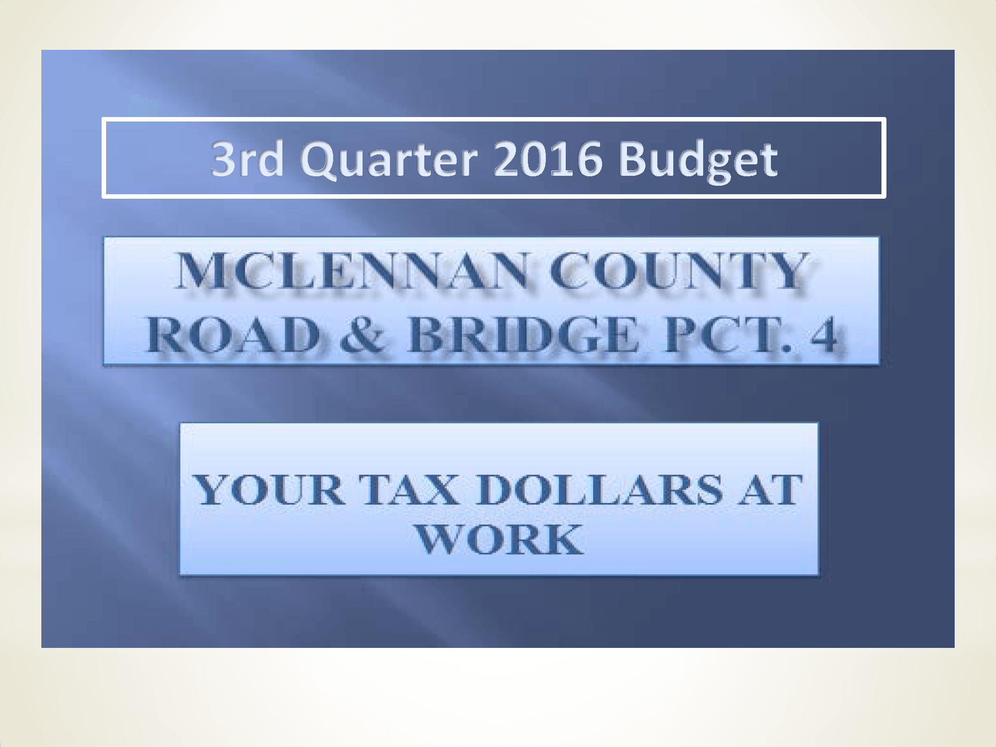 2016 3rd  Quarter Report  Title Page